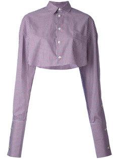 укороченная рубашка в клетку Y / Project