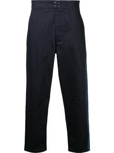 свободные джинсы с контрастной полоской Raf Simons