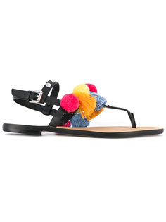 Estelle pompom sandal Rebecca Minkoff