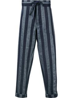 полосатые свободные брюки Andrea Pompilio