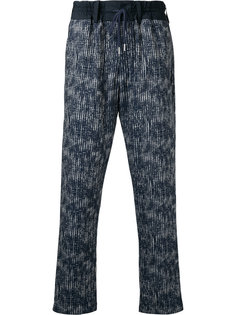 abstract print drawstring trousers Casely-Hayford
