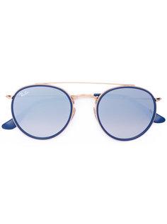 крупные круглые солнцезащитные очки Ray-Ban