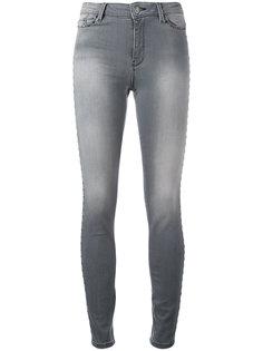 джинсы скинни с вытертыми деталями Karl Lagerfeld