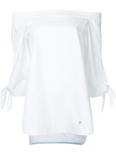 off the shoulder tie sleeve top Loveless