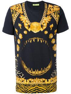 футболка с принтом клыков Versace Jeans