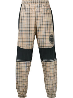 logo patch checked trousers Astrid Andersen