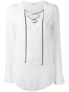 блузка со шнуровкой и расклешенными рукавами Equipment