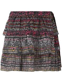многоуровневая юбка с рисунком под змею Iro