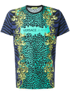 футболка с животным принтом  Versace Jeans