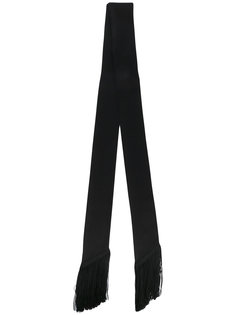 skinny scarf with fringe details Racil