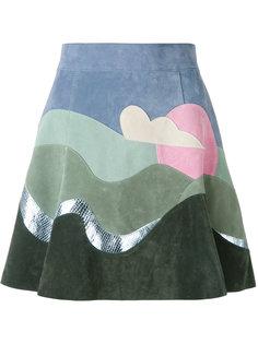 юбка в стиле колор блок Marc Jacobs