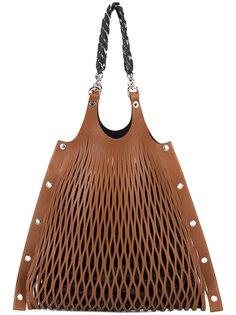 сумка на плечо с лазерной перфорацией Sonia Rykiel
