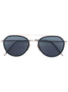 солнцезащитные очки в овальной оправе Thom Browne