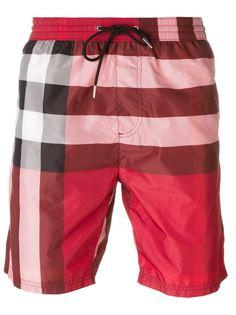 шорты для плавания в клетку Burberry Brit