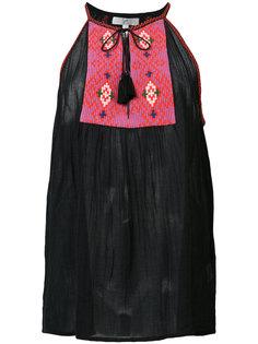 блузка с вышитой панелью Joie