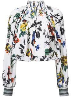 блузка со сборками у ворота Tibi