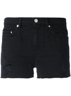 ripped denim shorts Blk Dnm