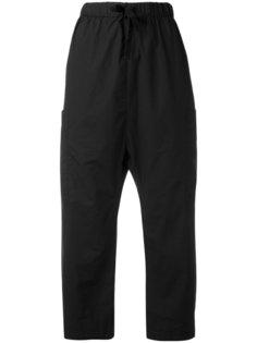укороченные брюки с эластичным поясом Album Di Famiglia