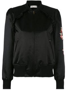 куртка-бомбер  с цветочной вышивкой Veronique Branquinho
