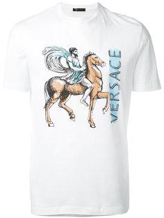 футболка с принтом всадника Versace
