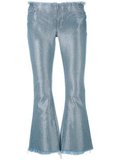 укороченные джинсы с отблеском Marquesalmeida