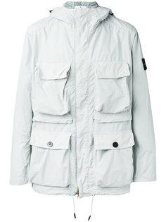 куртка в стиле милитари с капюшоном Stone Island