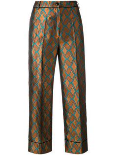 укороченные брюки с геометрическим принтом Jucca
