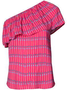 striped one shoulder top Vanessa Seward