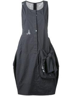 драпированное платье на пуговицах Rundholz