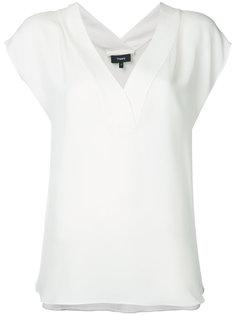 блузка с V-образным вырезом Theory