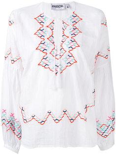блузка с вышивкой и кисточками Essentiel Antwerp