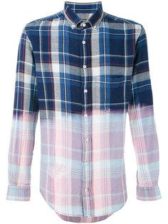 контрастная клетчатая рубашка Blk Dnm