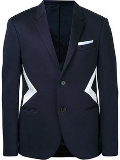 пиджак с геометрическими вставками Neil Barrett