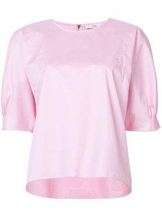 блузка с присборенными рукавами Tibi