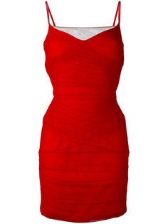 мини-платье с присборенной отделкой  Versace