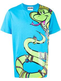 футболка с принтом королевской змеи Moschino
