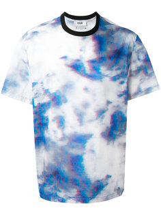 "футболка с принтом ""тай-дай"" MSGM"