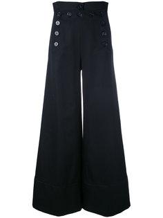 широкие брюки с пуговицами сбоку Chloé