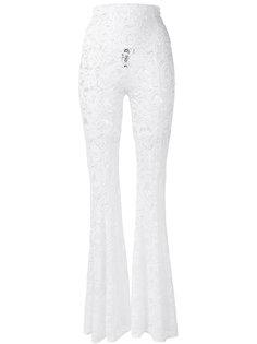 расклешенные кружевные брюки Norma Kamali