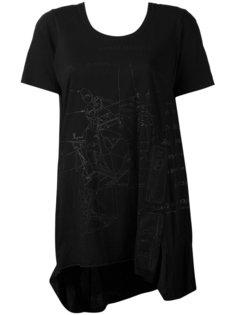 удлиненная футболка с геометрическим принтом Rundholz