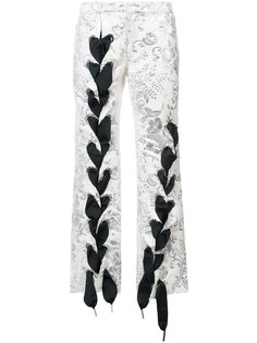 брюки с декоративной шнуровкой Marquesalmeida