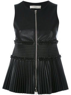 sleeveless and pleated top Cédric Charlier