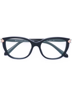 очки в оправе кошачий глаз Bulgari