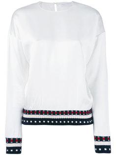 трикотажная блузка в рубчик Victoria Beckham