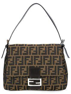 сумка на плечо с монограммным узором Fendi Vintage