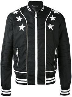 куртка-бомбер  с заплатками в виде звезд Philipp Plein