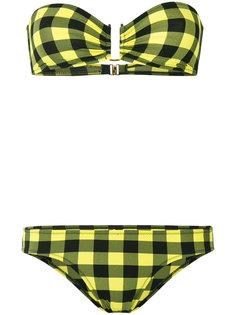 strapless checkered bikini Laura Urbinati