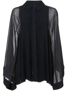 свободная блузка с плиссированным нагрудником Chloé