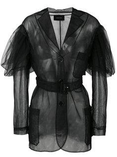 прозрачное однобортное пальто  Simone Rocha
