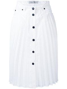 pleated button-up skirt Veronique Branquinho